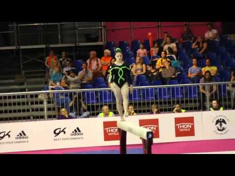 Sophie McCOO IRL, Beam Senior Qualification, European Gymnastics Championships 2012