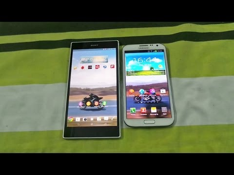 SONY XPERIA Z ULTRA VS SAMSUNG GALAXY NOTE 2