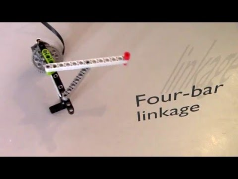Simple mechanics 1 : lego four-bar linkage