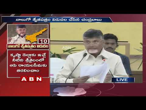 AP CM Chandrababu Naidu Release 4th White Paper on AP Development & Financial Status | ABN Telugu