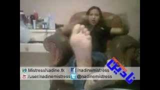 Mistress Nadine - Her Soles in Your Face بطن اقدام مسترس نادين في وشك