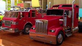 Мультики про машинки для мальчиков. Пожарная машина. Учим цвета и раскрашиваем стены