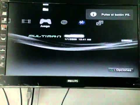 PS3 Slim 160GB Flash Contenido y Demostracion Funcionamieto