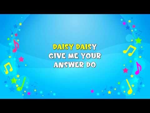 Daisy Bell | Sing A Long | Nursery Rhyme | KiddieOK