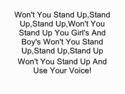 Sugarland-Stand Up (Lyrics)