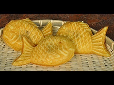How to make taiyaki fish bread youtube for How to bread fish