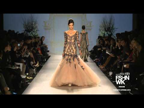 PAVONI RUNWAY SHOW: WORLD MASTERCARD FASHION WEEK SPRING 2013 COLLECTIONS