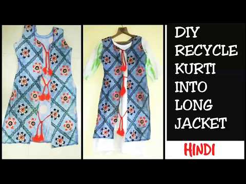 How To Convert Old kurti into Shrug/ Jacket in Just 5 Minutes DIY: Recycle Old Kurti