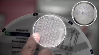 Nutzung der Röntgen Datenscheibe / usage of Roentgen cutting parameter disk