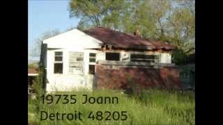 The deterioration of Joann street in Detroit