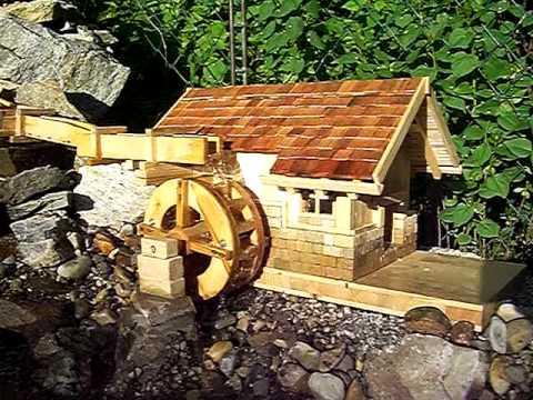 Wasserrad bauen