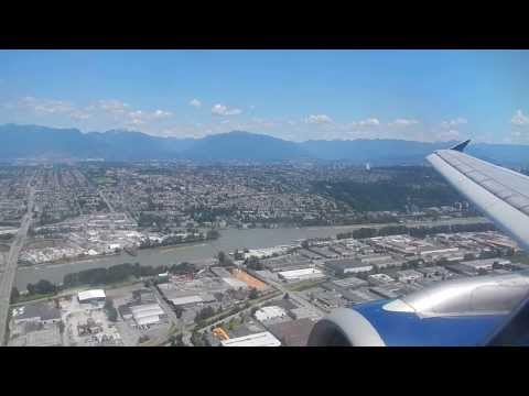 Delta Airlines Airbus A320 Landing @ Vancouver International Airport