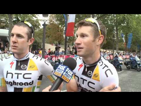 Stage 21 - Matt Goss and Mark Renshaw - 2011 Tour de France