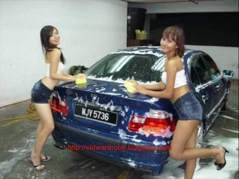 Awek cuci kereta 3