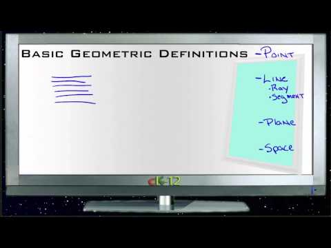 Basic Geometric Definitions Principles - Basic