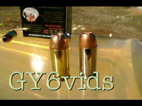 PDX1 45acp JHP- VS. -Basic 45acp JHP--BALLISTICS GEL TEST