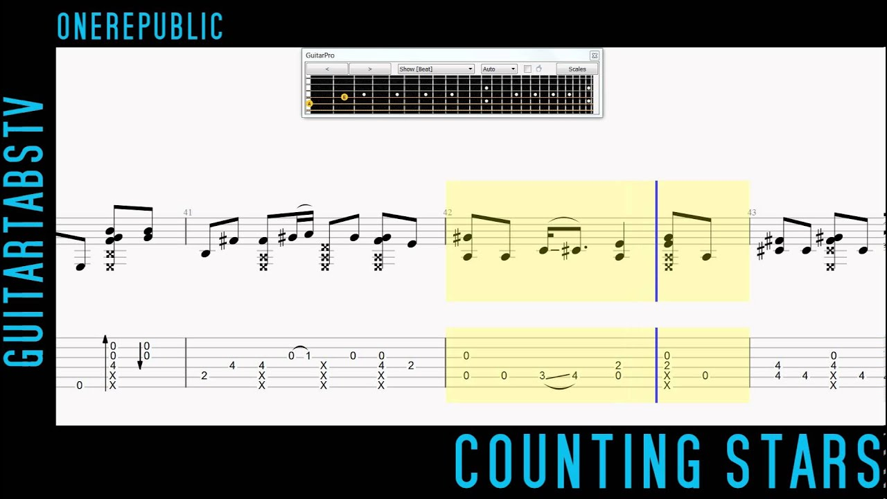 Counting Stars Guitar Tabs OneRepublic - Fingerstyle (Sungha Jung) - YouTube