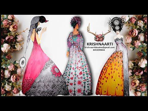 Krishnaarti Dezaina Studio #fashion #style  #design #sketch - Krishnaarti Vishwakarma