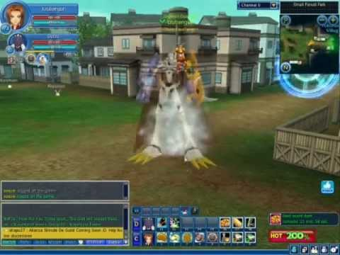 Digimon Masters Online Omnimon riding mode beelzemon to omnimon