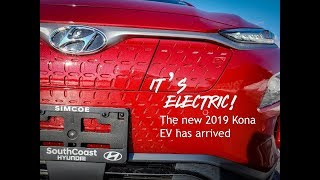 IT'S ELECTRIC!!! The new 2019 Hyundai Kona EV has arrived at SouthCoast Hyundai
