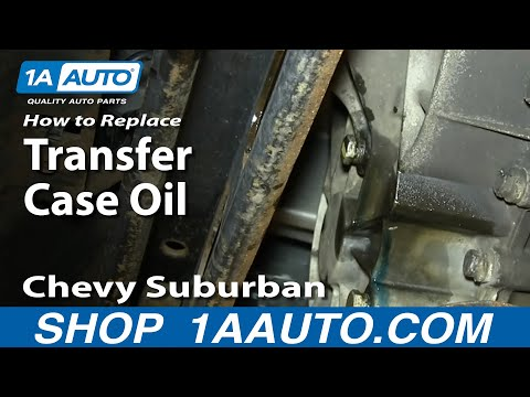 How To Service Change transfer Case Oil 2000-06 Silverado Sierra Suburban Tahoe Yukon