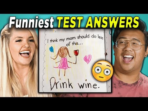 College Kids Read 10 Funniest Test Answers (REACT)