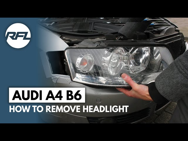 Audi A4 B6 how to remove headlight explained (to change ...