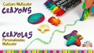 Custom Multicolor Crayons Tutorial / Crayolas personalizadas multicolor