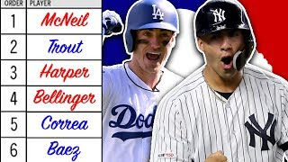 BEST MLB PLAYER AT EACH SPOT IN BATTING ORDER