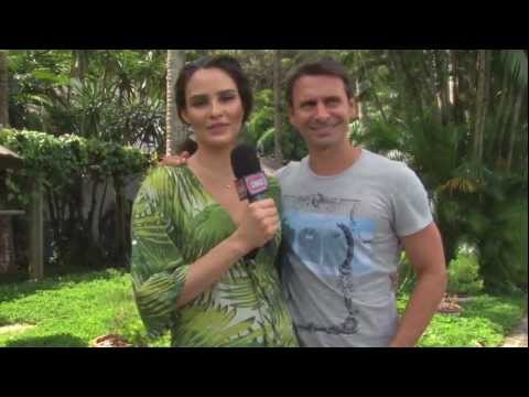 Murilo Rosa e Fernanda Tavares em clima de romance na Ilha