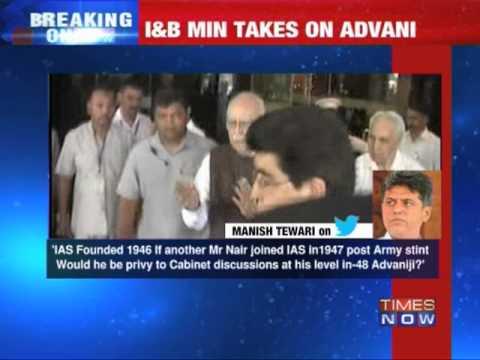 Big row over LK Advani's 'Nehru' comment