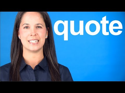 How to Pronounce QUOTE — American English Pronunciation