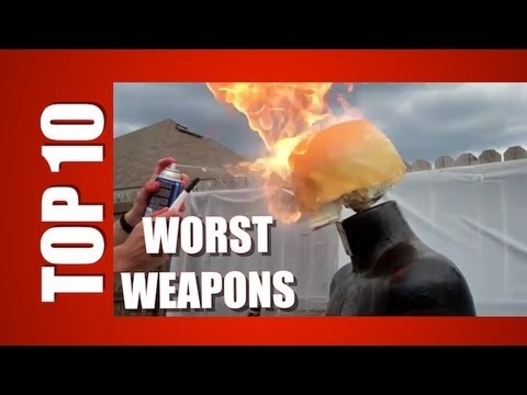 TOP TEN: WORST WEAPONS TO KILL ZOMBIES AND THE WALKING DEAD.
