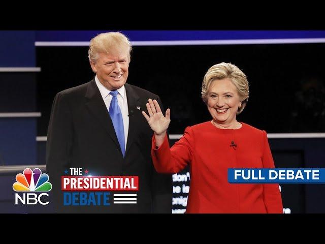 The First Presidential Debate Hillary Clinton And Donald Trump Full Debate  NBC News