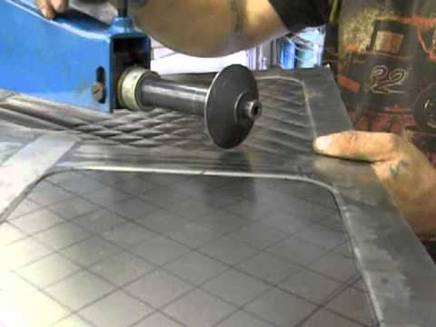 Bead Rolling Embossing And Cross Hatching Youtube