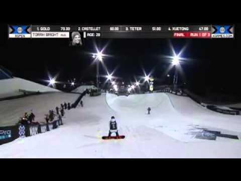 TORAH BRIGHT WINS BRONZE IN WOMEN'S SNOWBOARD SUPERPIPE