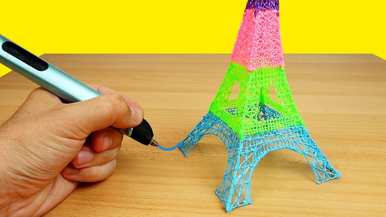 Смотреть видео как рисует 3д ручка