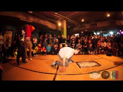 World BBoy Classic 2013 UK Qualifier - Final - Manny & Spin vs Waveybean & Sunni