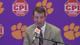 TigerNet: Clemson 61 The Citadel 3: Dabo Swinney postgame press conference