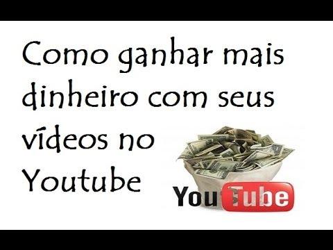 Como ganhar mais dinheiro com seus vídeos no Youtube / DavidTecNew / PT BR