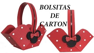 Como hacer bolsita de Minnie. Canastita de Minnie mouse