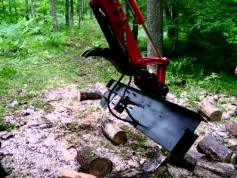 Excavator wood splitter