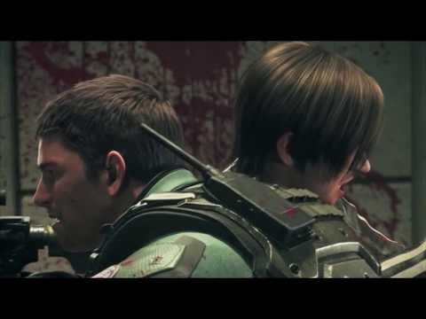 Leon & Chris vs. Group of zombies