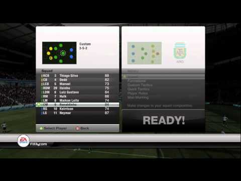 FIFA 12 Ultimate Team Custom Formation 352 Tutorial - Walkthrough