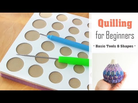 Quilling for Beginners  How to use a Quilling Board amp Slotted Tool  Basic Coil Shape Tutorial