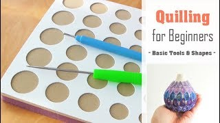 Quilling for Beginners  How to use a Quilling Board  Slotted Tool  Basic Coil Shape Tutorial