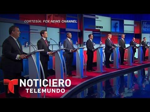 Curiosidades del primer debate republicano de elecciones del 2016 | Noticiero | Noticias Telemundo