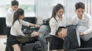 HAYZOtv - Thử Thách Ngủ Cùng Gái Xinh ở Tiệm Gội Đầu!