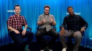 'The Night Before' | Unscripted | Seth Rogen, Joseph Gordon-Levitt, Anthony Mackie