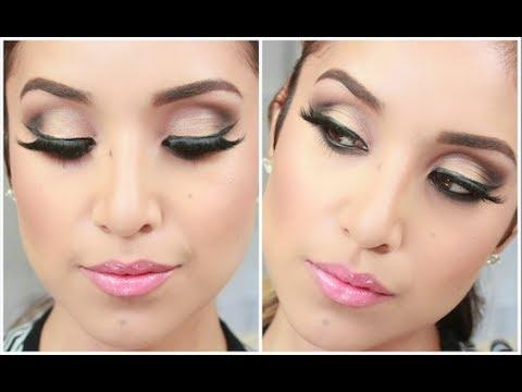 glam smokey brown eyes full face makeup tutorial  youtube